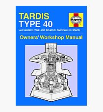 TARDIS - Type 40 - Owners' Manual Photographic Print