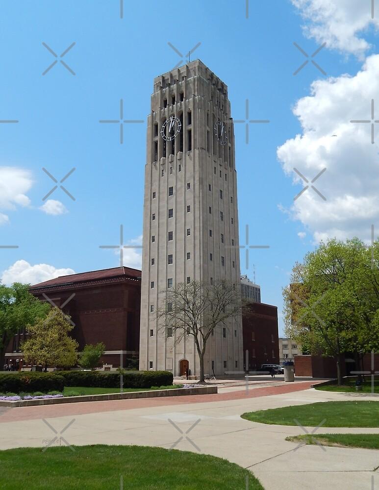 Ann Arbor Michigan Clock Tower by Phil Perkins