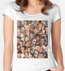 chris hemsworth collage Women's Fitted Scoop T-Shirt