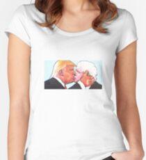 Donald Trump Boris Johnson Women's Fitted Scoop T-Shirt