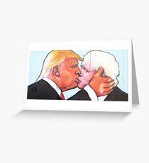 Donald Trump Boris Johnson Greeting Card