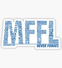 Mavs Fanatic - Never Forget Sticker