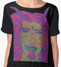 Psychedelic Devil Women's Chiffon Top