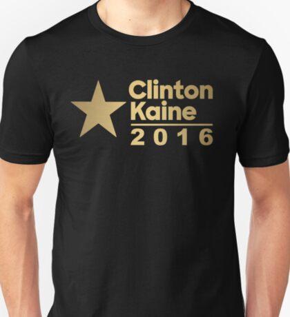 Clinton Kaine Logo 2016 Election Gold Tone T-Shirt