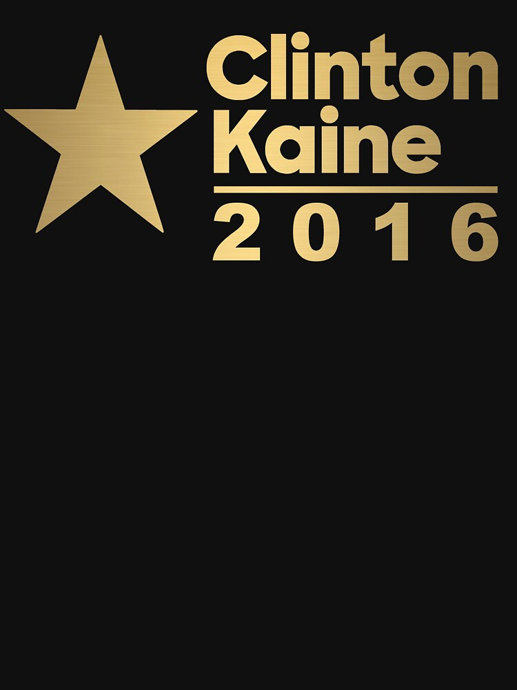 Clinton Kaine Logo 2016 Election Gold Tone by theartofvikki
