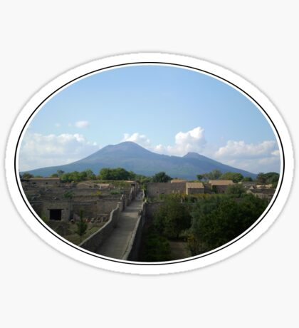 Pompeii after the Volcano Sticker