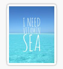 I Need Vitamin Sea Sticker