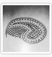Paisley Art Drawing bw Sticker