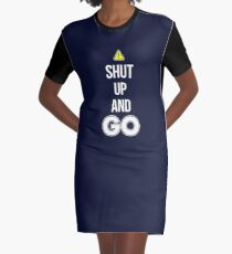 Shut Up And GO - Cool Gamer T shirt Graphic T-Shirt Dress