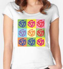 45 Record Holder Pop Art T-Shirt Women's Fitted Scoop T-Shirt