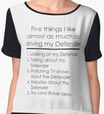 5 Things I Like - Defender Women's Chiffon Top
