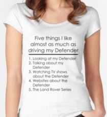5 Things I Like - Defender Women's Fitted Scoop T-Shirt