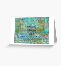 Ralph Waldo Emerson individuality quote Greeting Card