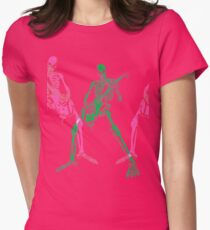 Skeleton Guitar Player 3 Womens Fitted T-Shirt