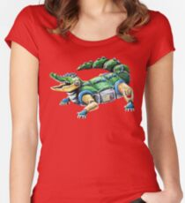 Chomp The Robo-Gator Women's Fitted Scoop T-Shirt
