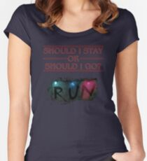 Stranger Things - Should I Stay or RUN? Women's Fitted Scoop T-Shirt