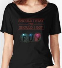 Stranger Things - Should I Stay or RUN? Women's Relaxed Fit T-Shirt