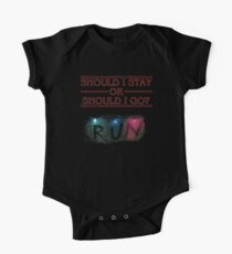 Stranger Things - Should I Stay or RUN? Kids Clothes