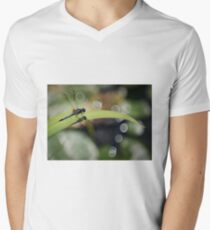 Dragon Fly Genießen Sie die Aussicht T-Shirt mit V-Ausschnitt