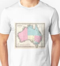 Vintage Map of Australia (1855) T-Shirt