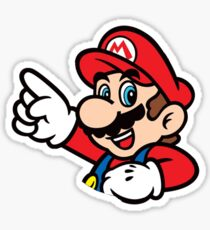 Super Mario Drawing Stickers Redbubble