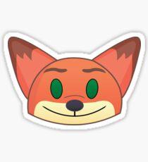 Nick Wilde Emoji Sticker Sticker
