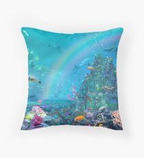 Undersea Castle Throw Pillow