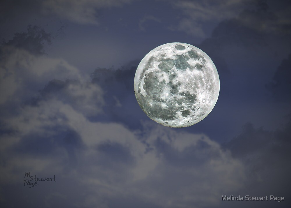 """""""Moon Over Rough River"""" by Melinda Stewart Page"""