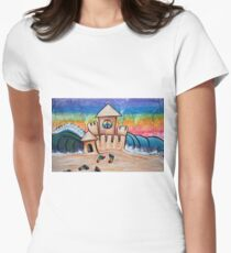 Hippie Sand Castle Women's Fitted T-Shirt