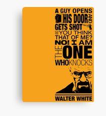 Walter Knocks Canvas Print