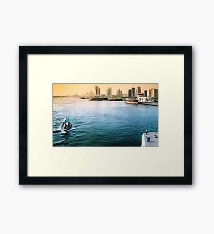 View of a Modern Old City Framed Print