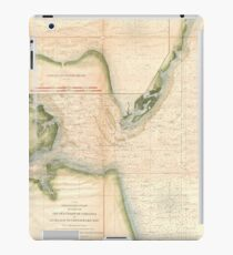 Vintage Map of The Chesapeake Bay Entrance (1855) iPad Case/Skin