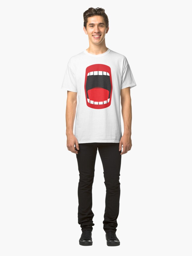 Alternate view of big open mouth   Classic T-Shirt