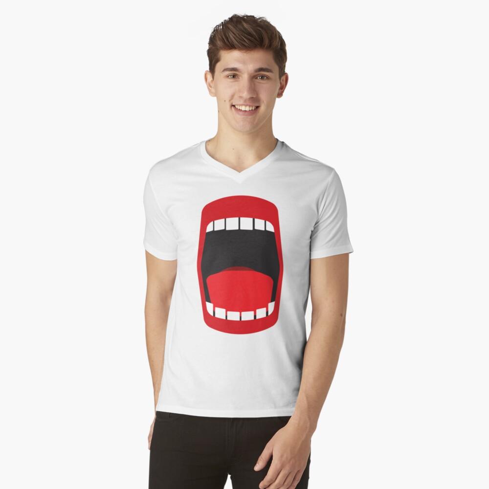 big open mouth   V-Neck T-Shirt