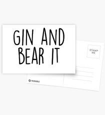 Gin and Bear it Postcards