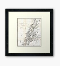Vintage Map of Lebanon (1856) Framed Print