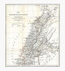 Vintage Map of Lebanon (1856) Photographic Print