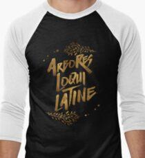 the trees speak latin Men's Baseball ¾ T-Shirt