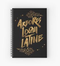 the trees speak latin Spiral Notebook