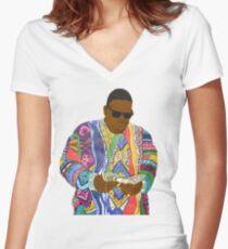 Camiseta entallada de cuello en V Biggie Smalls