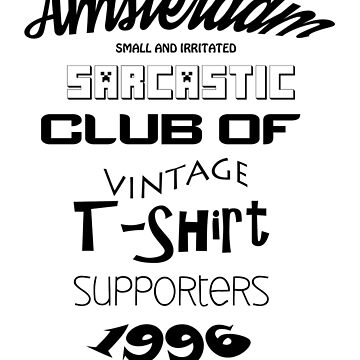 Vintage t-shirt supporters by SideburnJoe