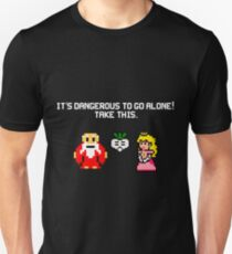 It's dangerous to go alone stitch face Unisex T-Shirt