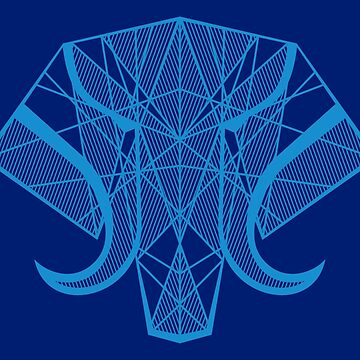 Elephant Head - Blue by Tal96