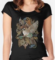 Clockwork Sparrow Women's Fitted Scoop T-Shirt