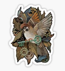 Clockwork Sparrow Sticker