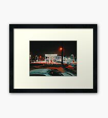 8:26, walking during a blizzard Framed Print