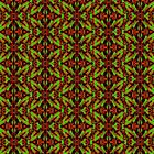 Croton Collection - Red, Green, Black by William Braddock