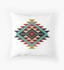 f3286181ccc5 Native American Southwest-Style Rainbow Sunburst Throw Pillow