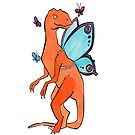 Butterfly Fairy Velociraptor  by Andrea England