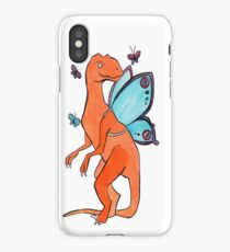Butterfly Fairy Velociraptor  iPhone Case/Skin